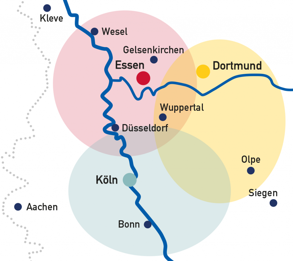 Kartenansicht Einsatzgebiet Brückenteam